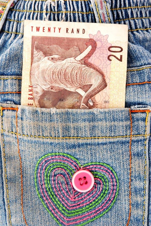 afrikanskt pengarfack arkivfoton