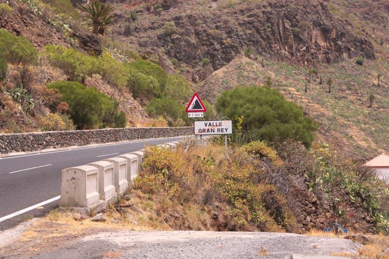 Afrit van een dorp in La Gomera stock afbeelding