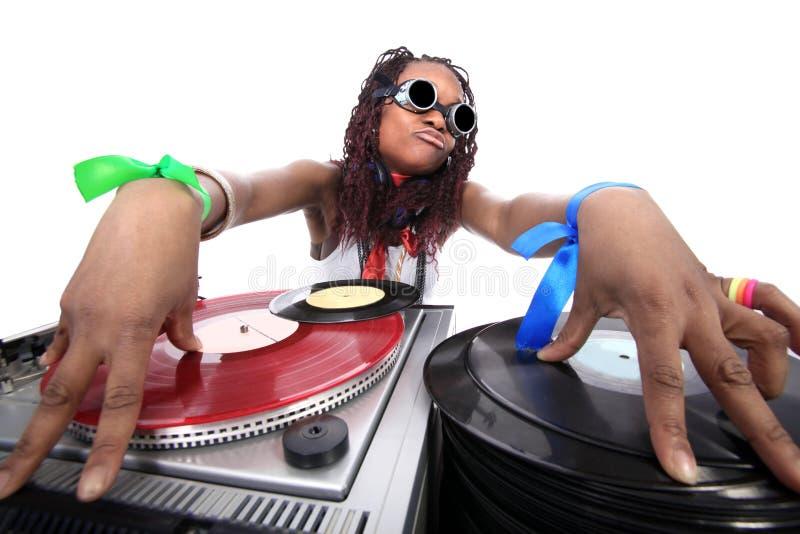 Afro-américain frais DJ photographie stock