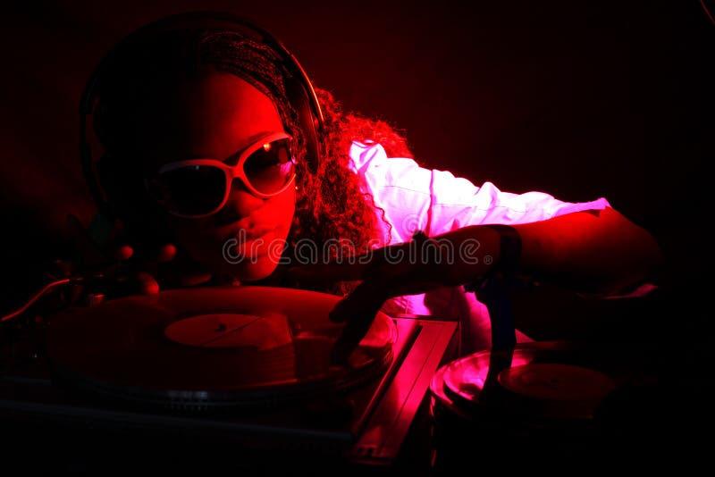 Afro-américain frais DJ photo libre de droits