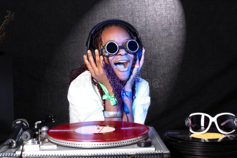 Afro-américain frais DJ image libre de droits