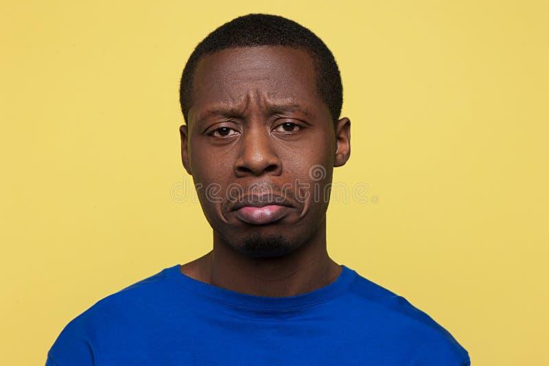 Afro-américain offensé Conversation d'insulte images stock