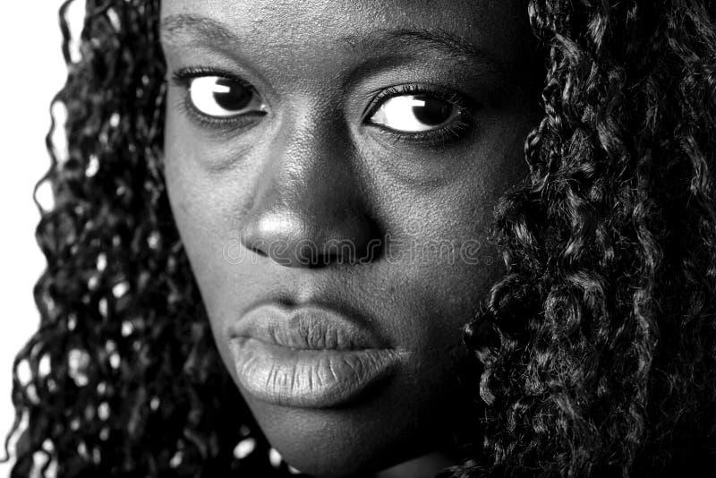 Afro-américain triste photographie stock libre de droits