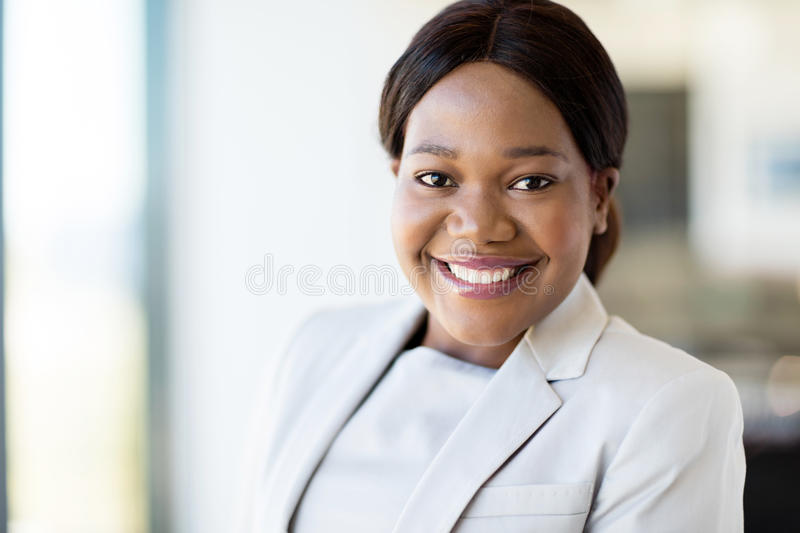 Afro american business executive stock images