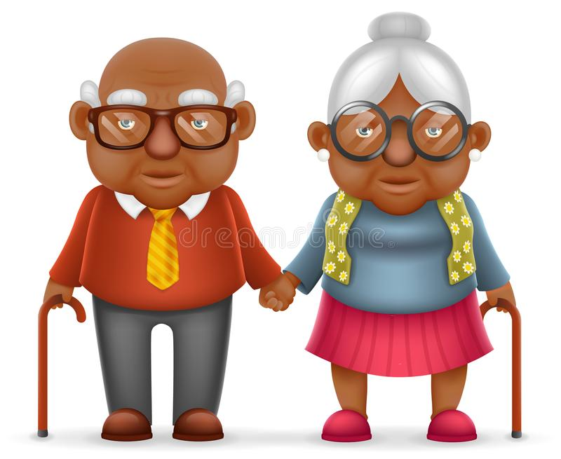 afro american cute smile happy elderly couple old man love woman grandfather grandmother 3d african american family reunion clipart african american family clipart images