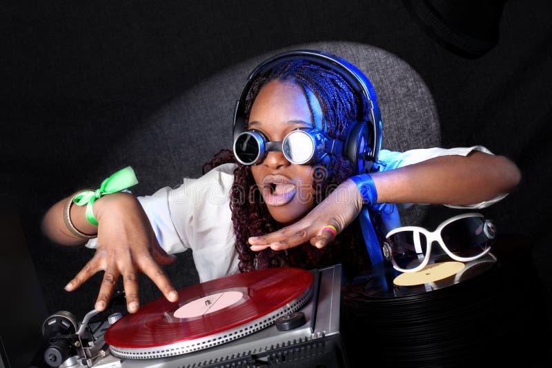 afro american dj στοκ φωτογραφία με δικαίωμα ελεύθερης χρήσης