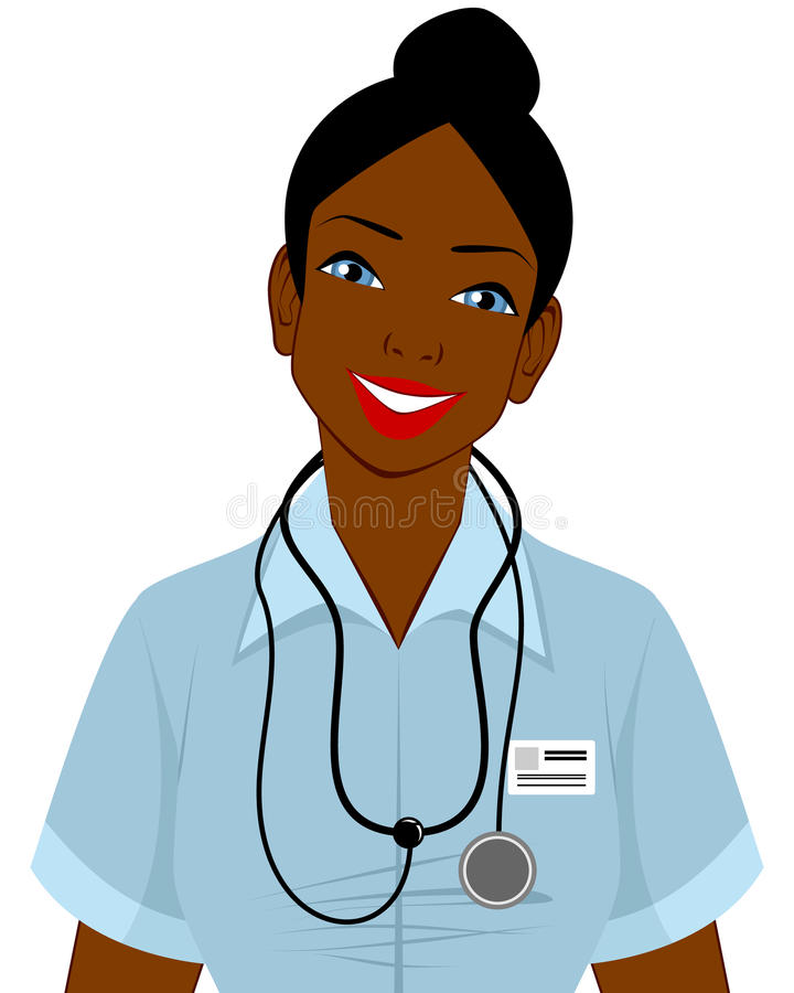 Afro american doctor royalty free illustration