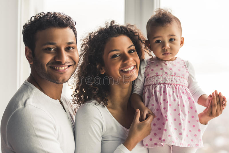 Afro American family royalty free stock photo