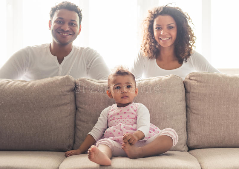 Afro American family royalty free stock images