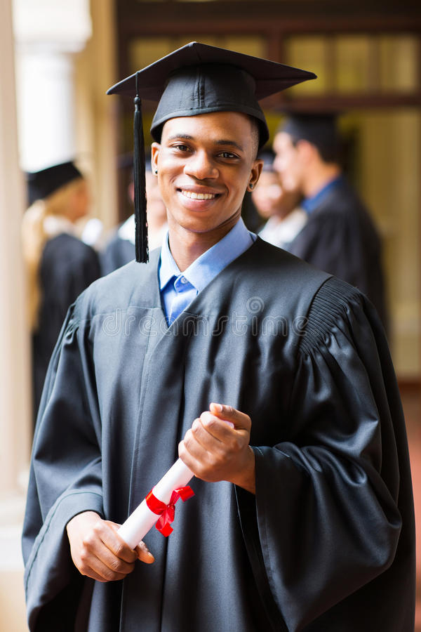 Afro american graduate royalty free stock photography