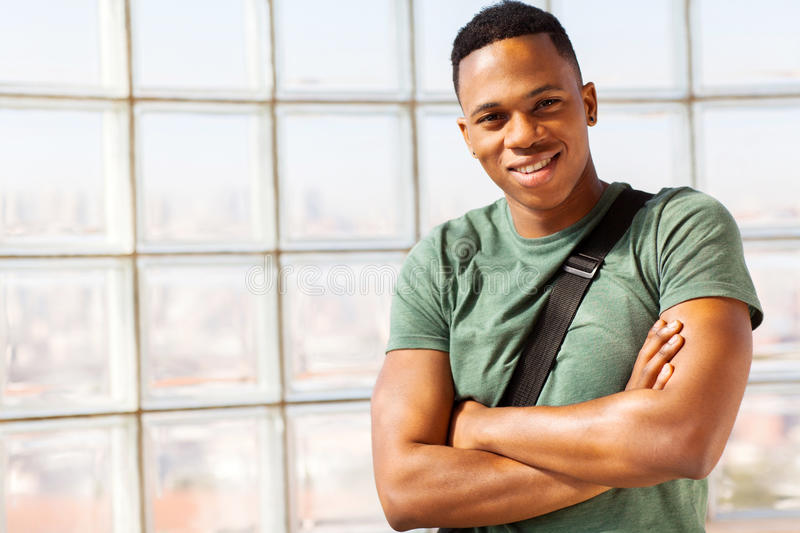 Afro american guy stock photography
