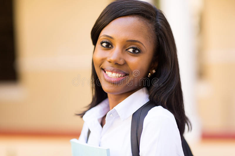 Afro american university student stock photography