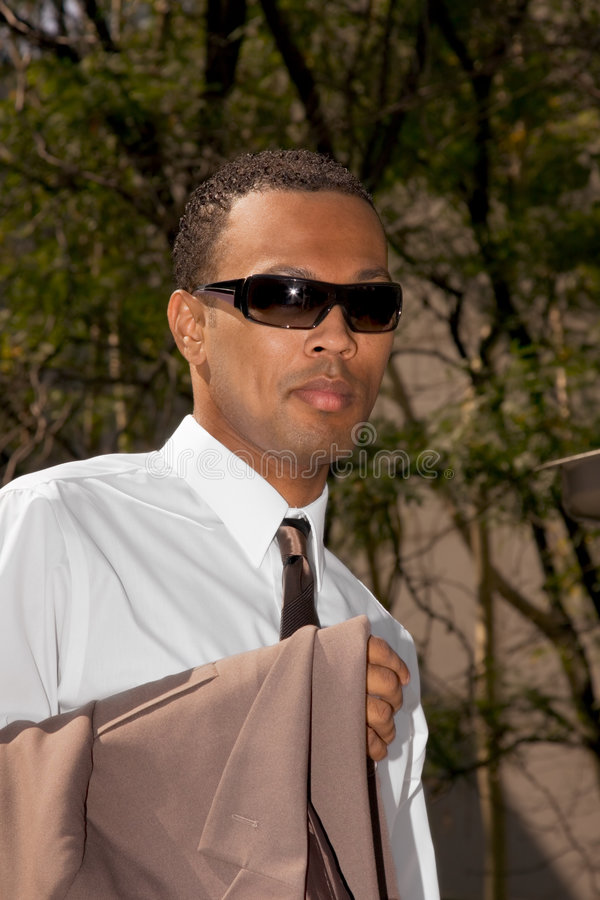 Afro American Young Businessmen In Sunglasses Stock Image