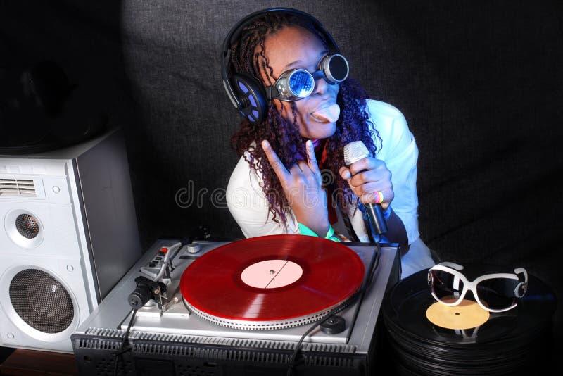 Afro-americano fresco DJ imagem de stock royalty free