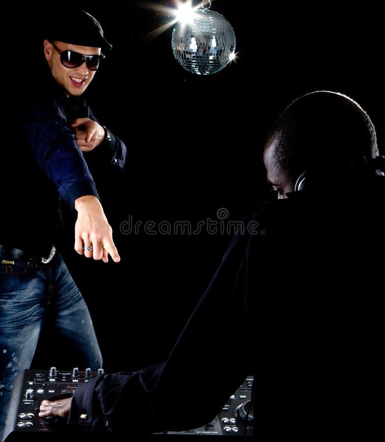 Afro-americano novo DJ fotos de stock royalty free