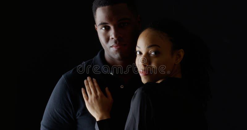 Afro-americanos novos do retrato dois imagem de stock royalty free