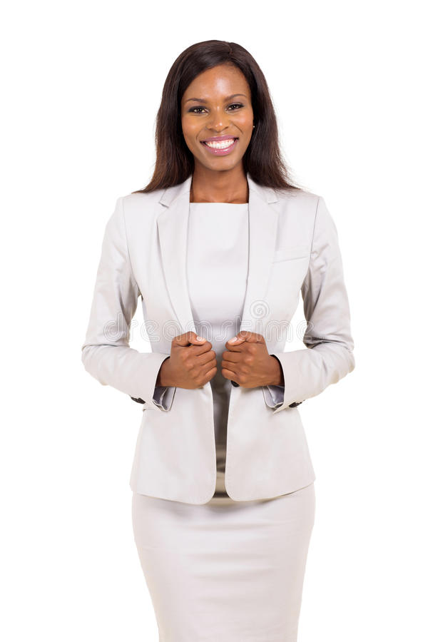 Afro Amerikaanse bedrijfsvrouw royalty-vrije stock fotografie