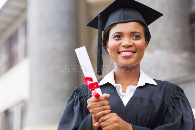 Afro Amerikaanse gediplomeerde royalty-vrije stock afbeeldingen