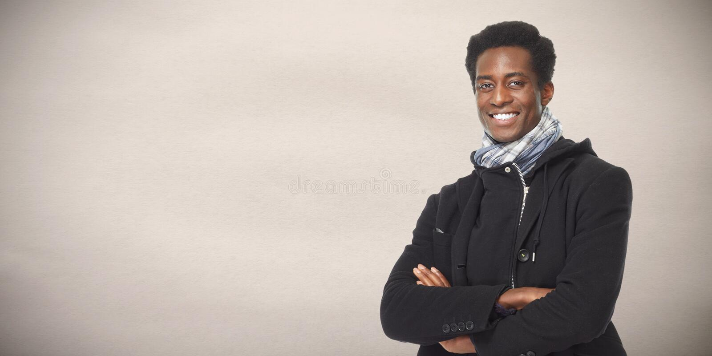 Afro Amerikaanse mens royalty-vrije stock fotografie