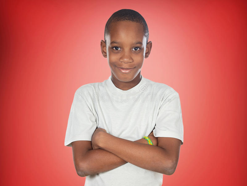 Afro-Amerikaanse tienerjongen royalty-vrije stock foto's