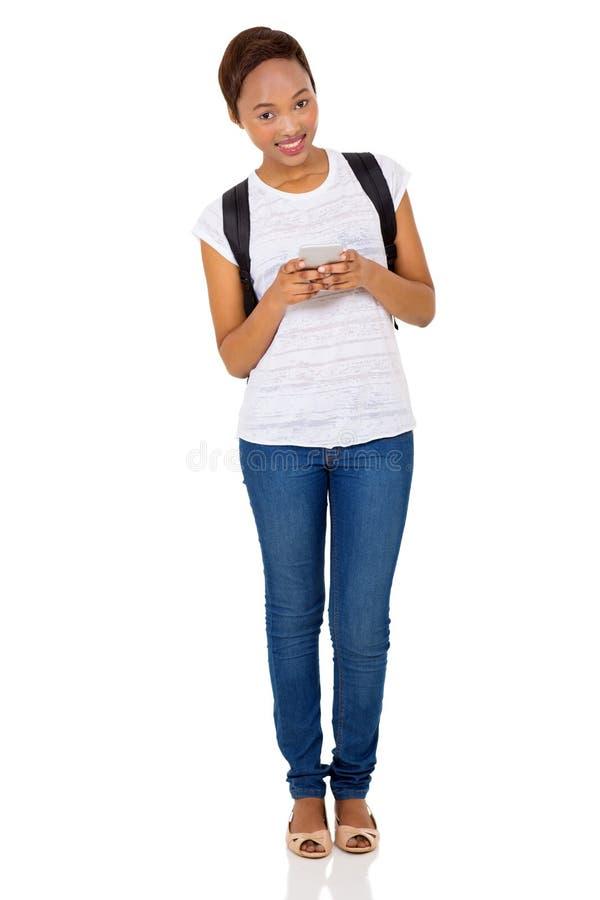 Afro Amerikaanse universitaire student royalty-vrije stock afbeeldingen