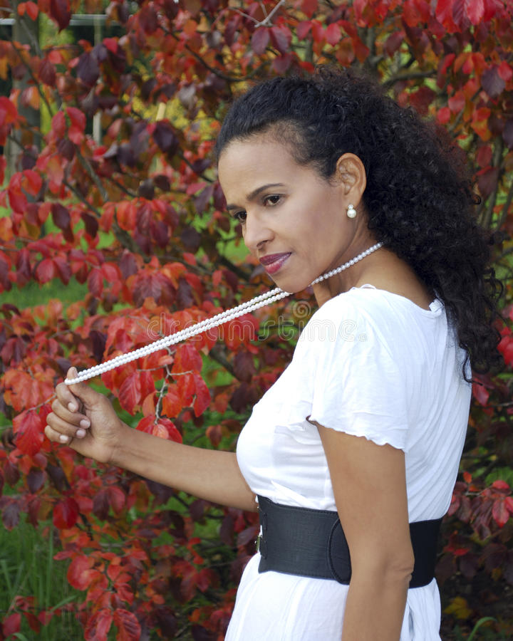 Afro-Amerikaanse vrouwenhalsband royalty-vrije stock foto's