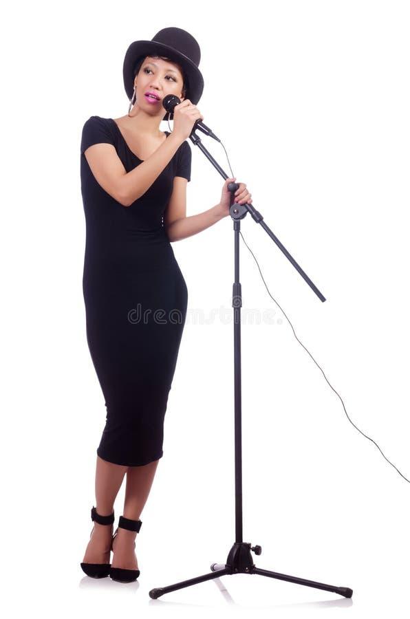 Afro--amerikan Kvinnlig Sångare Arkivfoto