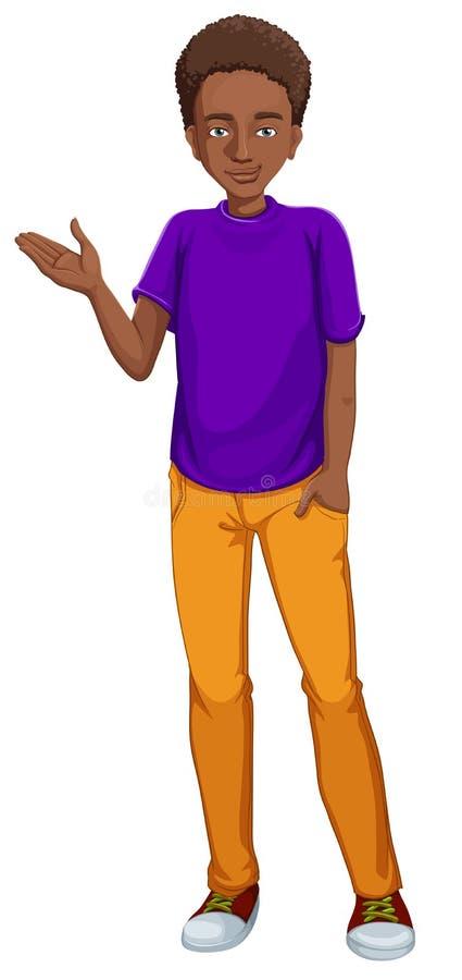Afro-amerikanischer Kerl lizenzfreie abbildung