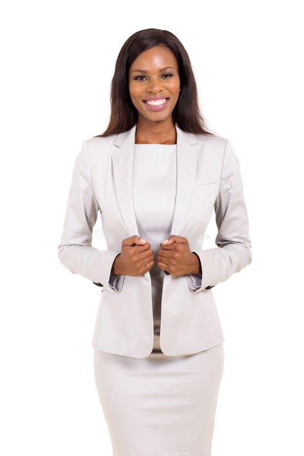Afro- amerikansk affärskvinna royaltyfri fotografi