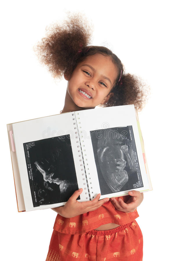 afro amerikansk asiatisk svart barnultrasound royaltyfri fotografi