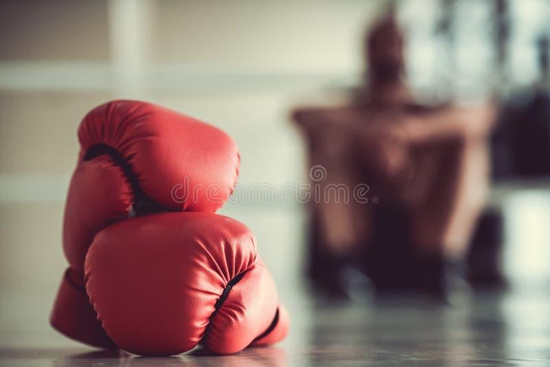 Afro- amerikansk boxare arkivfoton