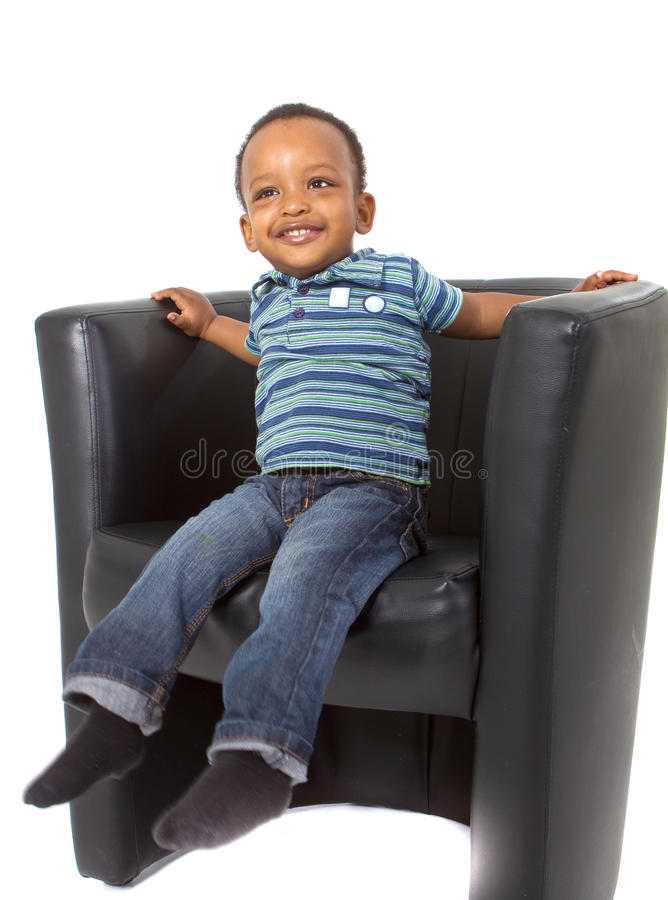 afro amerikanskt familjbarn royaltyfri fotografi