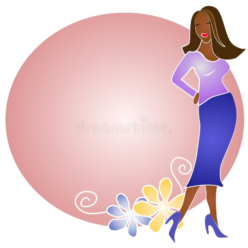 afro - amerykanów 2 mody ilustracja wektor