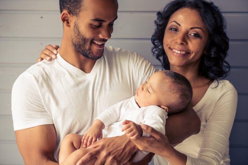 Afro amerykanina rodzina zdjęcia royalty free