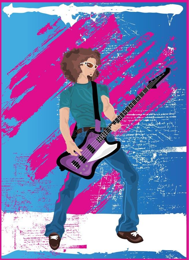 Afro dell'eroe della chitarra royalty illustrazione gratis