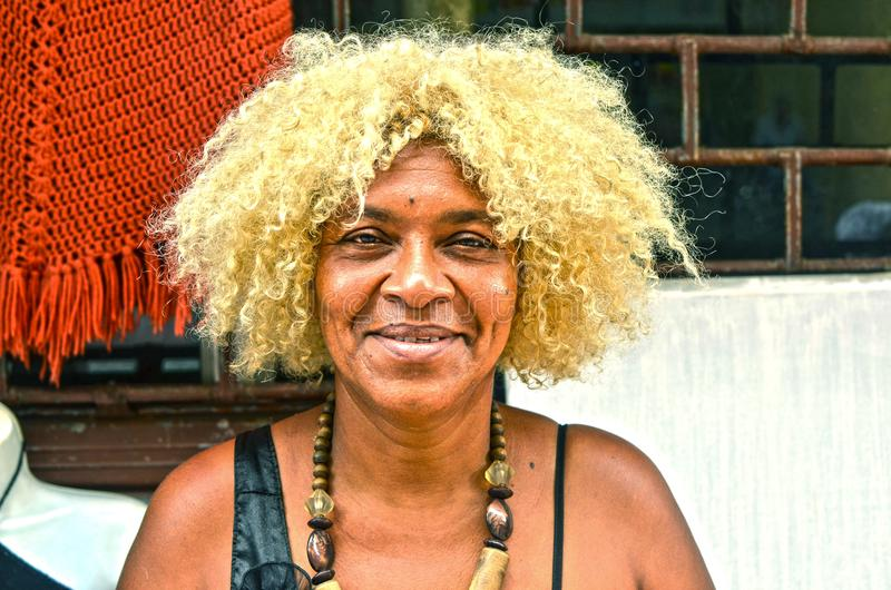 Afro Dominican Woman stock images