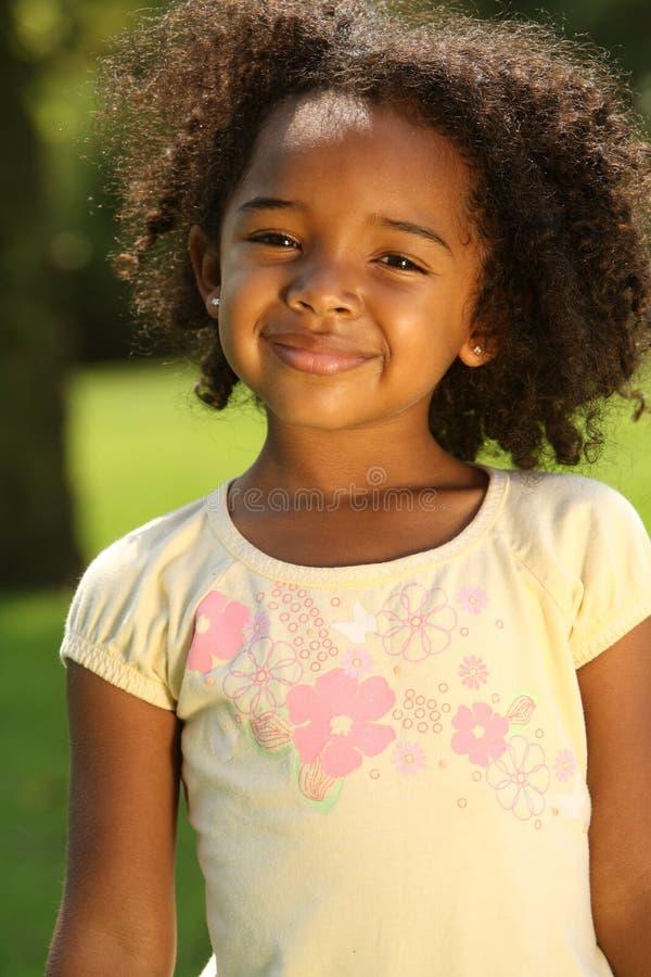 afro flicka royaltyfria bilder