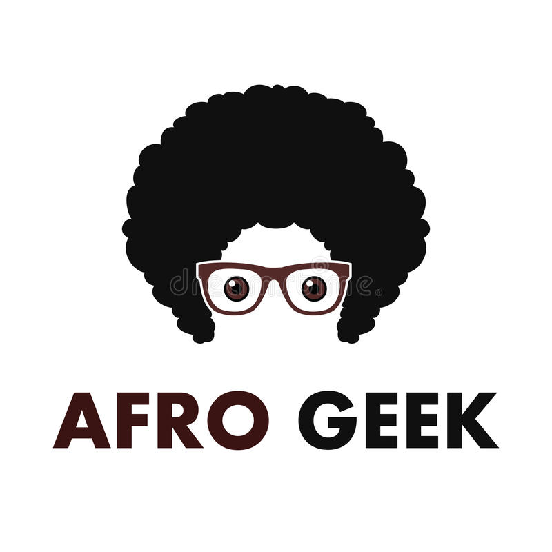 Afro Hair Vector Afro Geek Logo ...