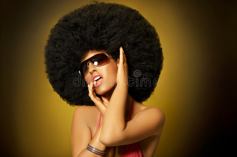 Afro Girl Royalty Free Stock Photos