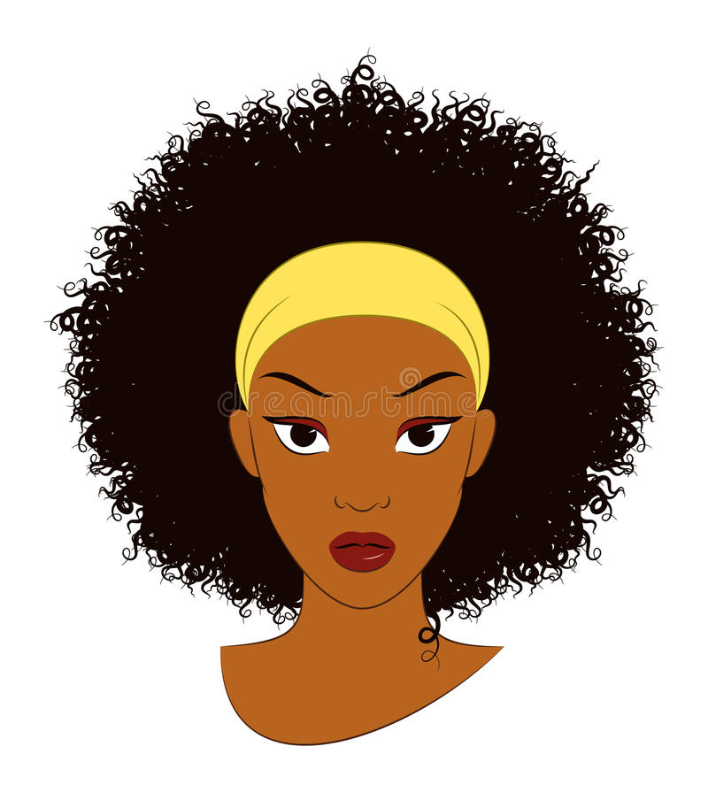 Afro Girl. Vector Illustration of an Afro Girl with Curly Hair vector illustration