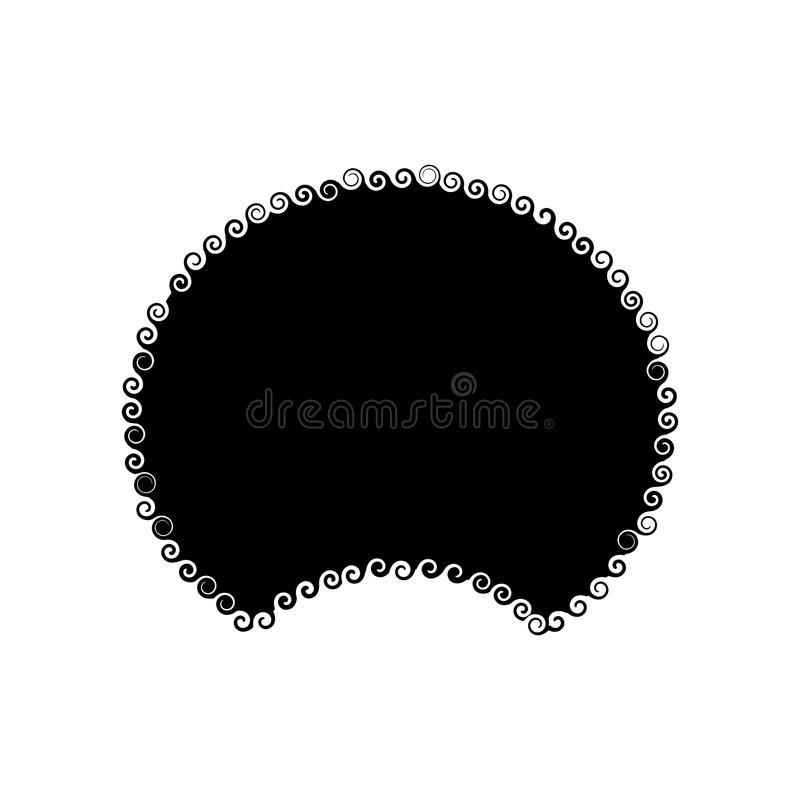Afro Hair isolated. Traditional African American Hairstyle on white background. disco wig template royalty free illustration
