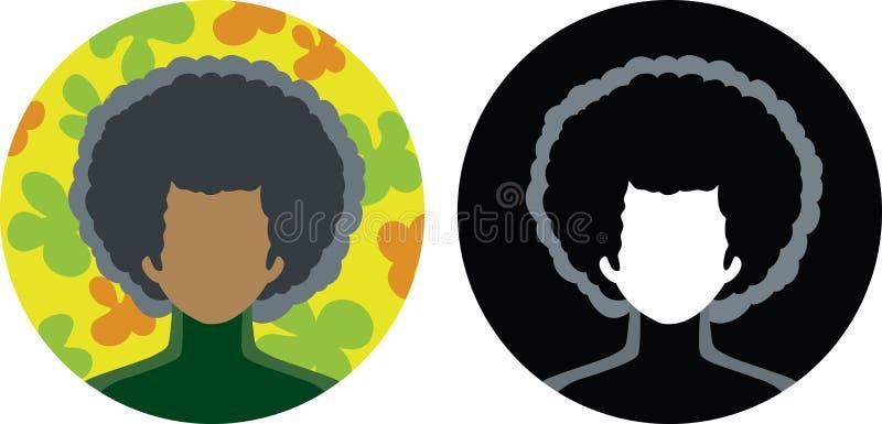 Afro-icona royalty illustrazione gratis