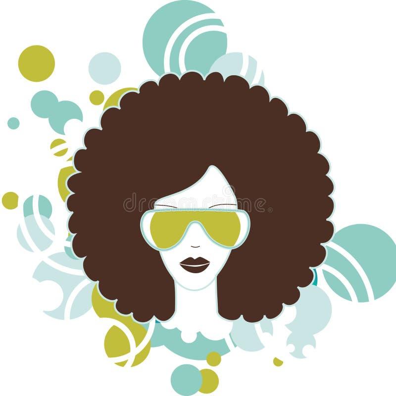 Afro kobieta ilustracja wektor