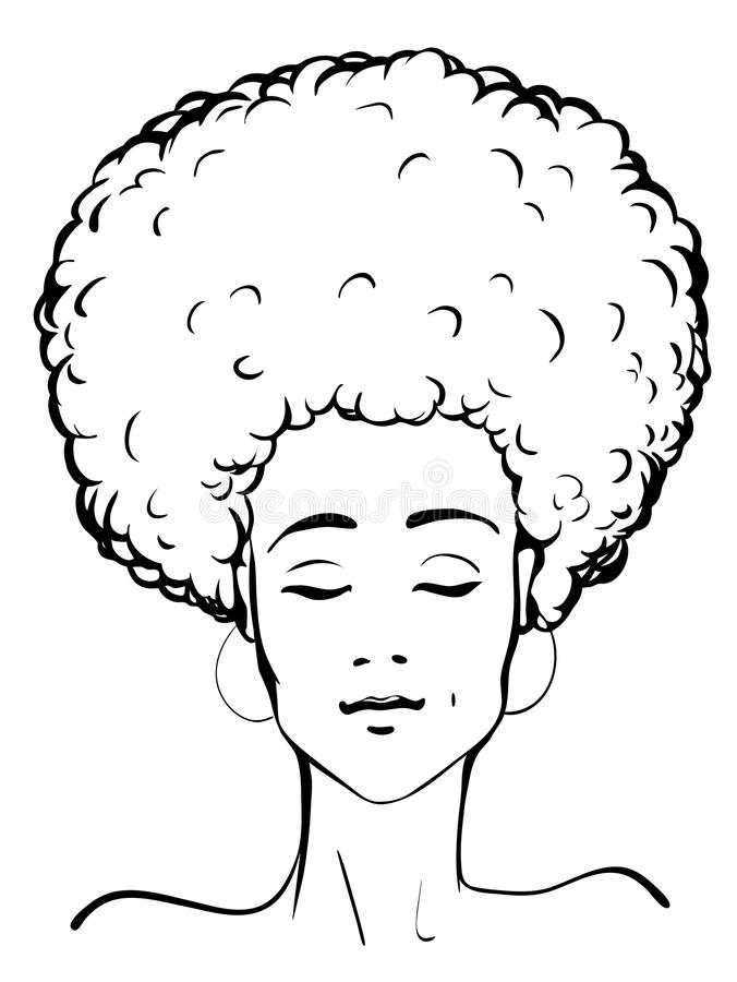 Afro lady clip art