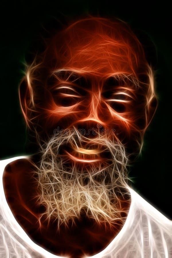 Afro mężczyzna ono Uśmiecha się royalty ilustracja