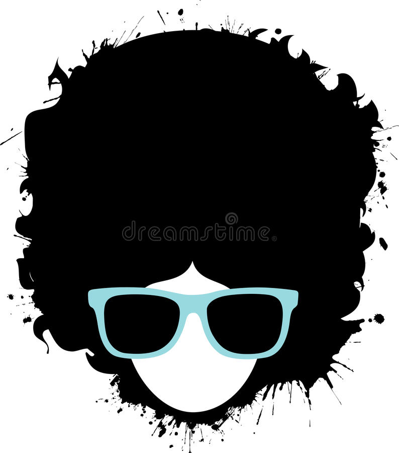 Afro Man. A man with an afro is wearing sunglasses