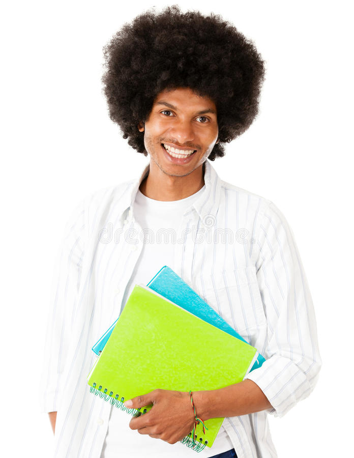 Download Afro student stock image. Image of intelligent, books - 26391407