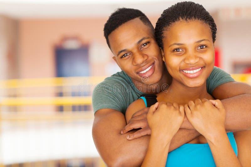 Afro szkoły wyższa amerykańska para zdjęcia stock