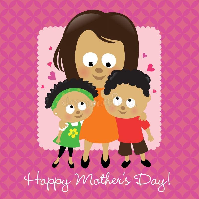 Afroamericano felice di giorno della madre illustrazione di stock