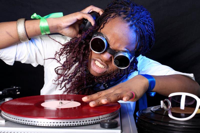 Afroamericano fresco DJ imagenes de archivo